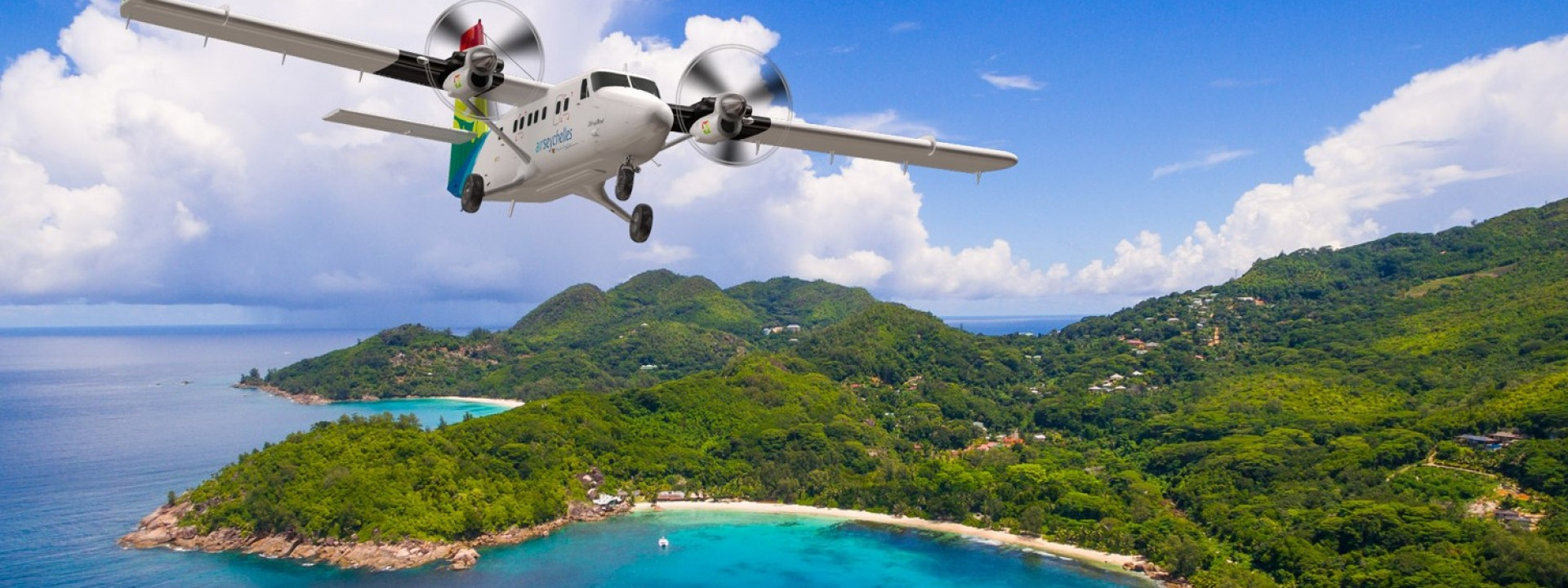 Air Seychelles scenic flights to nowhere around Mahé